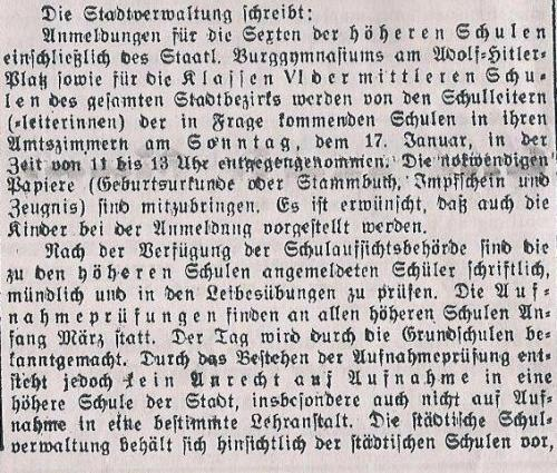 Schulwesen 1937 1