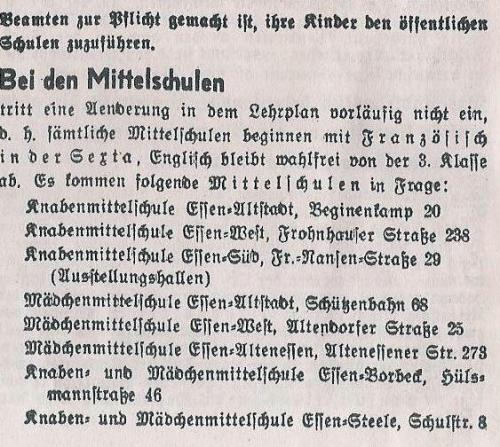Schulwesen 1937 4