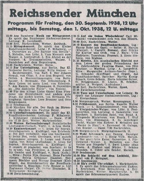 Reichssender München 1938