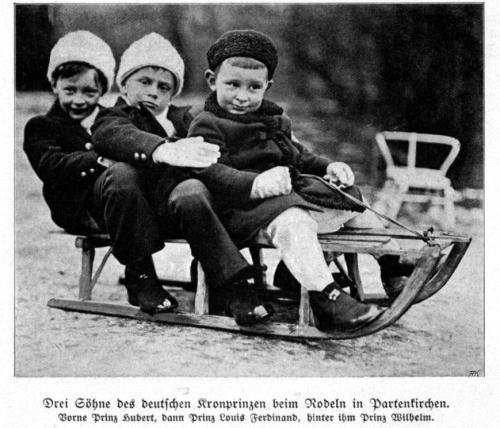 Die Kinder des deutschen Kronprinzen 1913