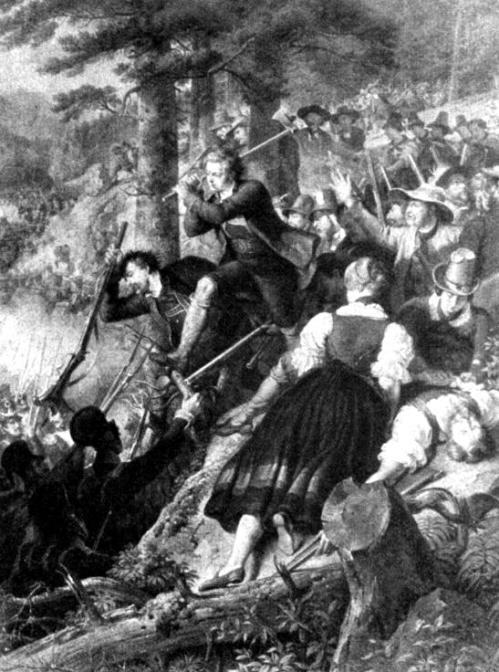 Kriegsszene aus den Tiroler Freiheitskämpfen
