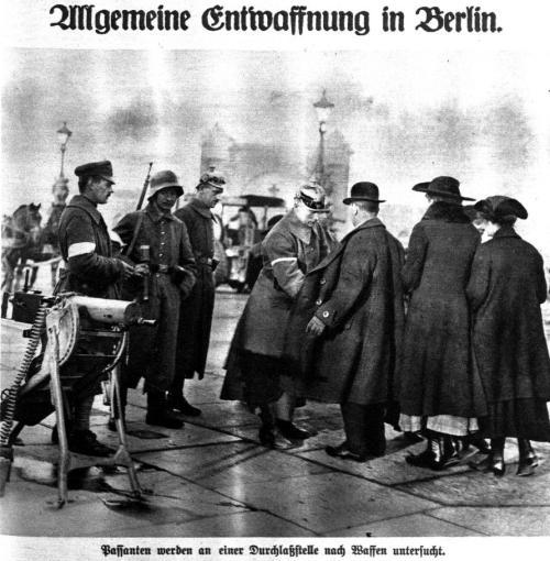Allgemeine Entwaffnung in Berlin 1919