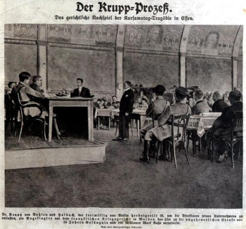 Der Krupp Prozeß 1923