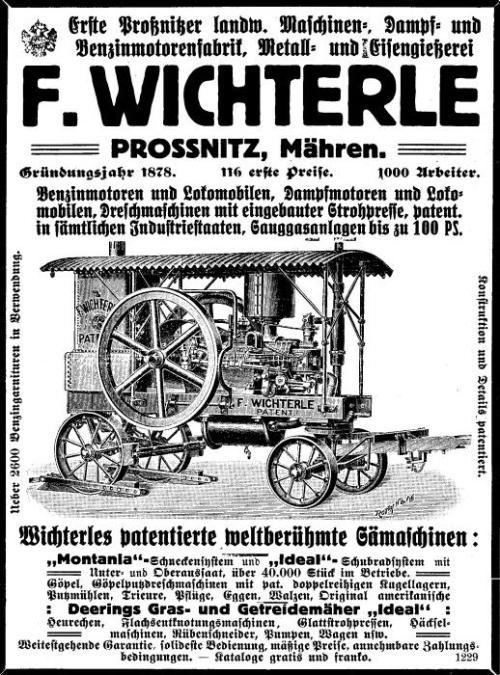 Wichterles weltberühmte Sämaschinen 1913