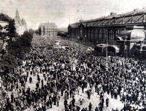 Teuerungskrawalle in Deutschland Dresden 1923