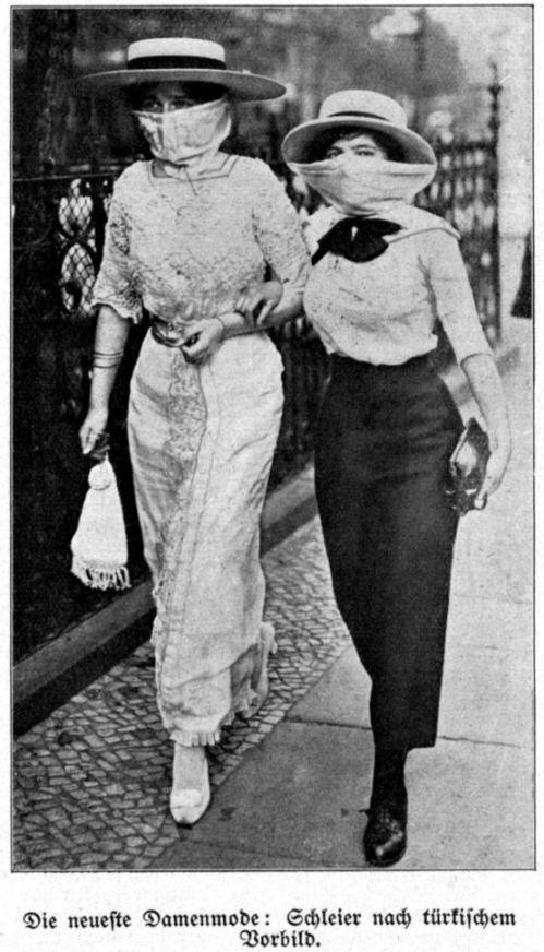 Damenmode 1913 Schleier