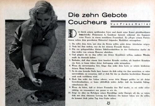 Die zehn Gebote Coucheurs