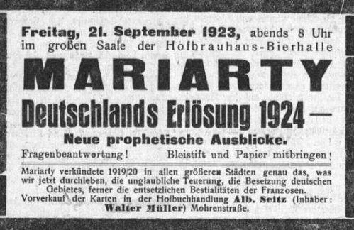 Mariarty Deutschlands Erlösung