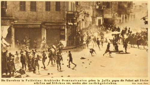 Unruhen in Palästina