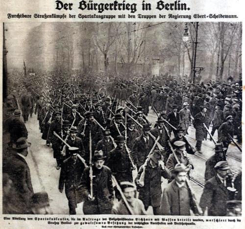 Spartakisten in Berlin