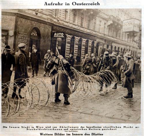 Aufruhr in Österreich