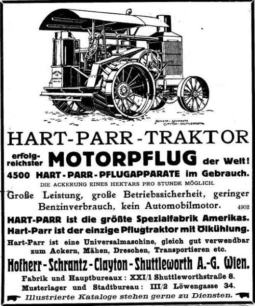 Hart-Parr-Traktor 1914