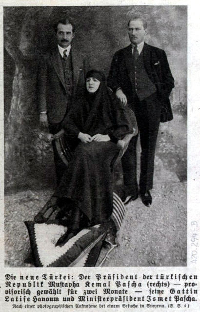 Latifè, die Gattin Mustapha Kemal Paschas