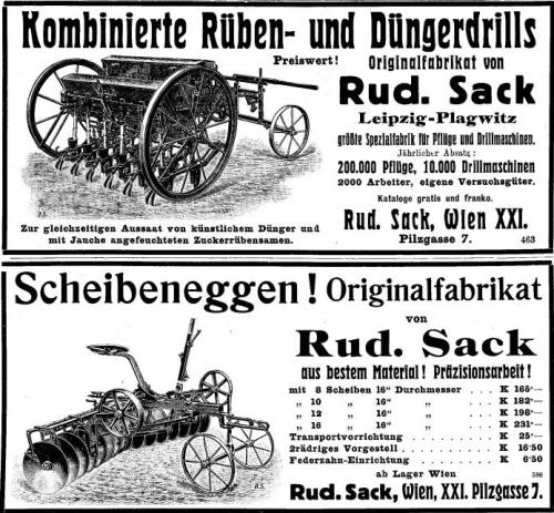Rudolph Sack Maschinen 1914