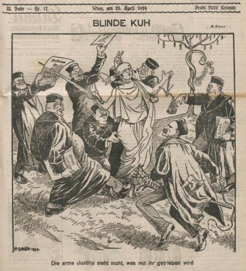 Die arme Justizia 1924