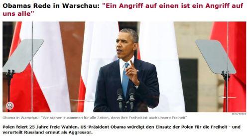 Obama erneuert den Beistandspakt