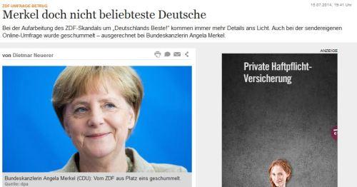 ZDF schummelt bei Merkel