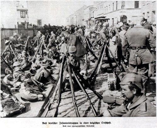 Rast in Belgien 1914