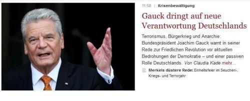 Gauck wird vom Wehrdienst verschont