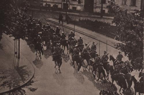 Rückzug russischer Kavallerie aus Insterburg