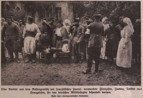 Eine Auslese aus dem Rassengemisch des französischen Heeres 1914