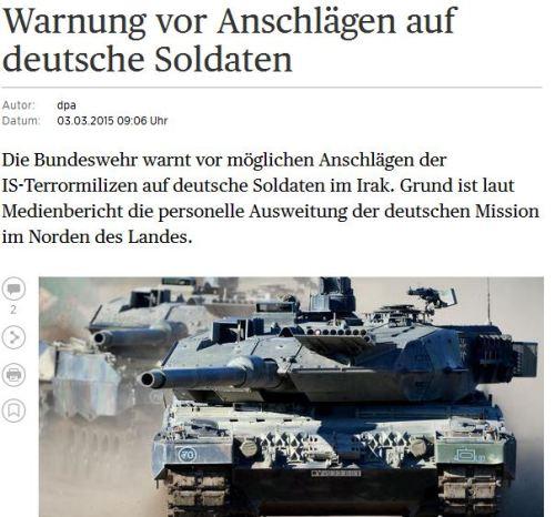 Bundeswehr warnt ihre Soldaten