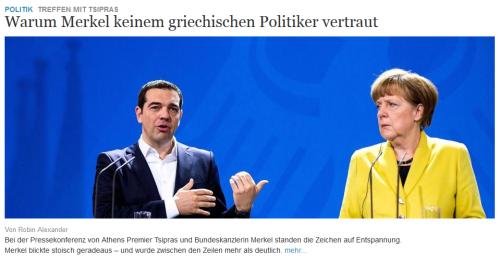 Frau Merkel ist neidisch