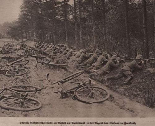 Deutsche Radfahrer Patroille 1915 bei Reims