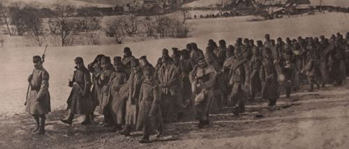 Kriegsgefangene Russen 1915 Karpaten