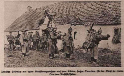Quartiermacher in russisch Polen 1915