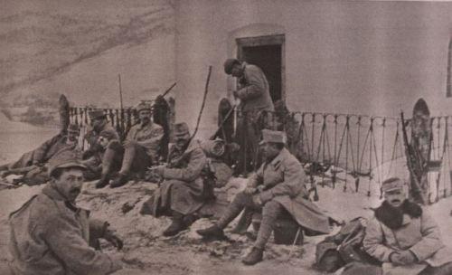 Rast in den Karpaten 1915