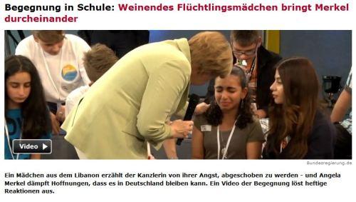 Öfter vor Merkel weinen