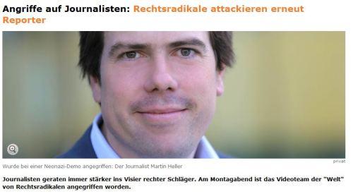Schlimm Journalisten trauen sich kaum noch raus