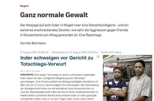 Strukturelle Gewalt ohne Deutsche