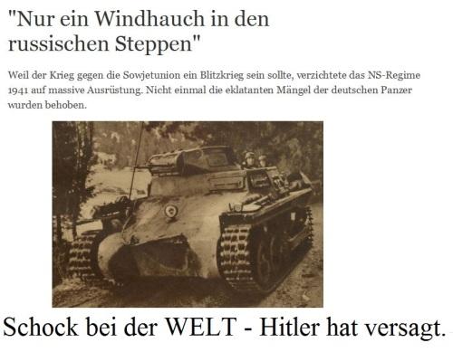 Hitler hat wieder versagt