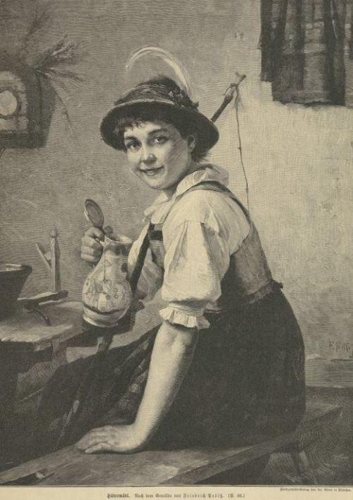Hütemädchen 1896