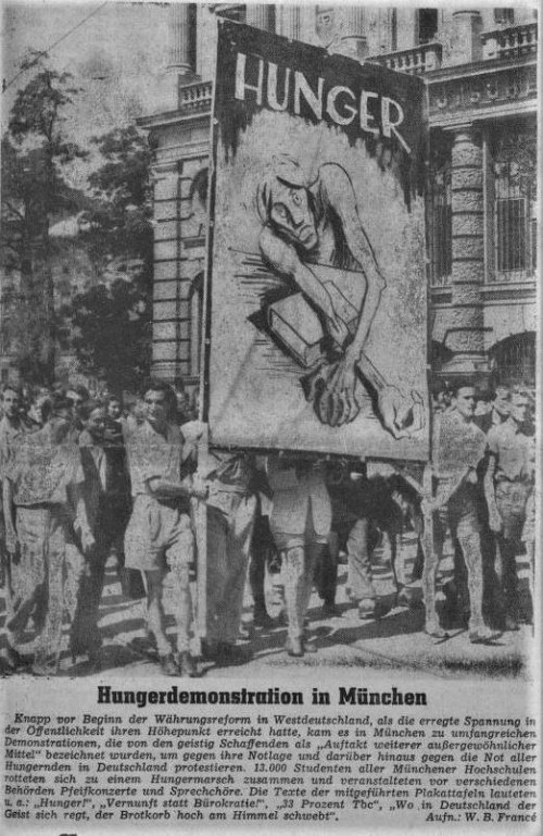 Hungerdemonstration München 1948