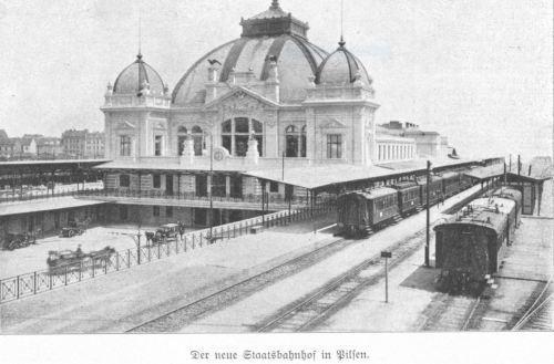 Pilsener Bahnhof 1905